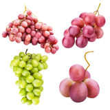 Collection of grapes isolated on white background stock images