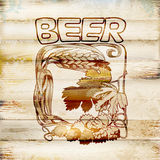 Collection of graphic label. graphic  symbol of beer Royalty Free Stock Image