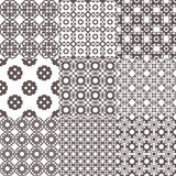 Collection of graphical vector seamless patterns. Abstract geometric wallpapers. Ornamental decorative background for cards, invitations, web design Stock Photography