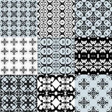 Collection of graphical vector seamless patterns. Abstract geometric wallpapers. Ornamental decorative background for cards, invitations, web design Royalty Free Stock Photography