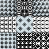 Collection of graphical vector seamless patterns Royalty Free Stock Photography