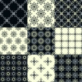 Collection of graphical vector seamless patterns. Abstract geometric wallpapers. Ornamental decorative background for cards, invitations, web design Stock Image