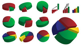 Collection of Graphs vector illustration