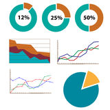 Collection of graphs and charts Royalty Free Stock Photo