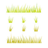 Collection of grass templates - green and yellow Royalty Free Stock Images