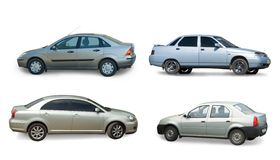 Collection of gray car Stock Image
