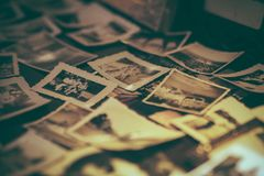 Collection of Gray Scale Photos Stock Photography