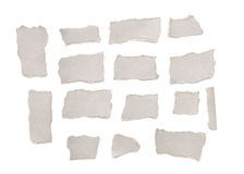 Collection of gray  torn paper Royalty Free Stock Photo