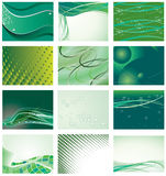 Collection of green background Stock Photos