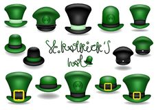 Patrick hats stock illustration