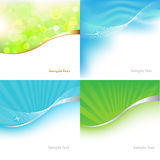 Collection Green And Blue Background. Vector Royalty Free Stock Image
