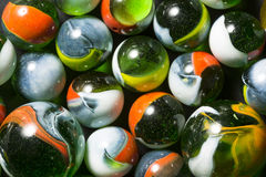 Colorful Green Marbles Stock Image