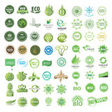Collection of  eco sign. Collection of green eco sign Royalty Free Stock Photos
