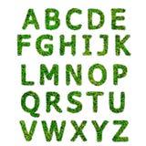 Collection of green grass alphabe Royalty Free Stock Photos