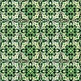 Collection of green patterns tiles Stock Photography