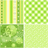 Collection green seamless. Stock Photo