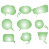 Collection of green stylized text bubbles Stock Image