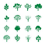 Collection of Green Trees. Royalty Free Stock Image