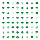 Collection of Green Trees. Vector icons. Royalty Free Stock Image
