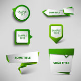 Collection green web pointers design template Stock Image