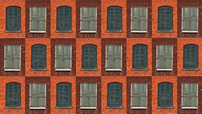 Collection of green windows stock photography