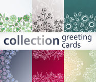Collection greeting cards Stock Photos