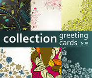 Collection greeting cards Stock Image