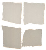 Collection of grey ripped pieces of paper Royalty Free Stock Photo