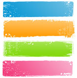 Collection of Grunge Banners in Modern Colors Royalty Free Stock Photos