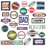 Collection grunge de tampons en caoutchouc Image libre de droits