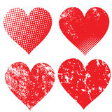 Collection of grunge hearts. ( illustration Royalty Free Stock Photo