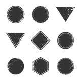 Set of grunge rectangle borders and frames,  vintage illustration. Collection of grunge rectangle borders and frames,  vintage illustration Stock Photography
