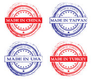 Collection of grunge rubber stamps Stock Photography