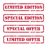 Rubber stamps. Collection of grunge rubber stamps Royalty Free Stock Photos