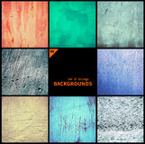 Collection of grunge textures and backgrounds Stock Image