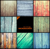Collection of grunge textures and backgrounds Stock Photography