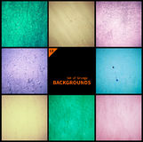 Collection of grunge textures and backgrounds. Collected in one file Royalty Free Stock Photography