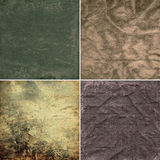 Collection grunge textures Stock Photo