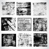 Collection of grunge textures, vector Stock Photos