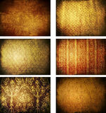 Collection of grunge vintage background textures Royalty Free Stock Image