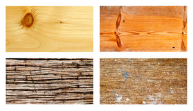 Collection of grunge wood Royalty Free Stock Photos