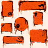 Collection of grungy halloween design elements Royalty Free Stock Image
