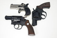 Collection of guns Stock Images