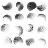 Collection of halftone sphere template. EPS 10 Stock Photos