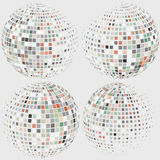 Collection of halftone sphere vector logo template Royalty Free Stock Photos
