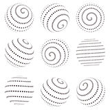 Collection of halftone sphere vector template Royalty Free Stock Photography