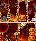 Collection of Halloween banners Royalty Free Stock Photography