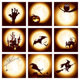 Collection of halloween elements Royalty Free Stock Photo