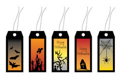 Collection of Halloween labels. Image with 5 Halloween labels Royalty Free Stock Photography