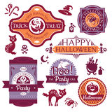 Collection of Halloween labels and signs Royalty Free Stock Photos
